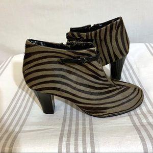 Aerosols New Zebra Print Calf Hair Booties